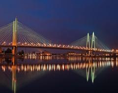 Вантовый мост Невский р-н Санкт-Петербурга